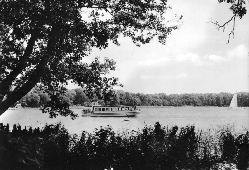 Ansichtskarte, Bad Saarow - Pieskow, Am Scharmützelsee, Version 1, 1966