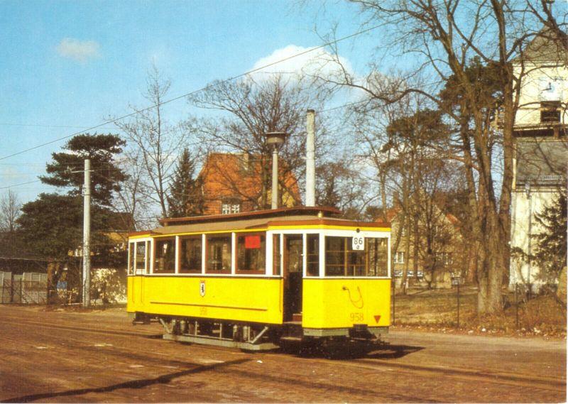 Ansichtskarte, Berlin, Beiwagen 958 der BVG, Baujahr 1916, 1987