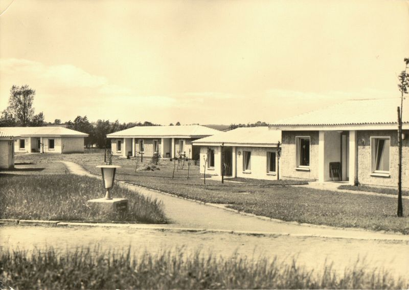 Ansichtskarte, Ostseebad Boltenhagen, FDGB-Urlauberdorf, Bungalows, Version 1, 1963