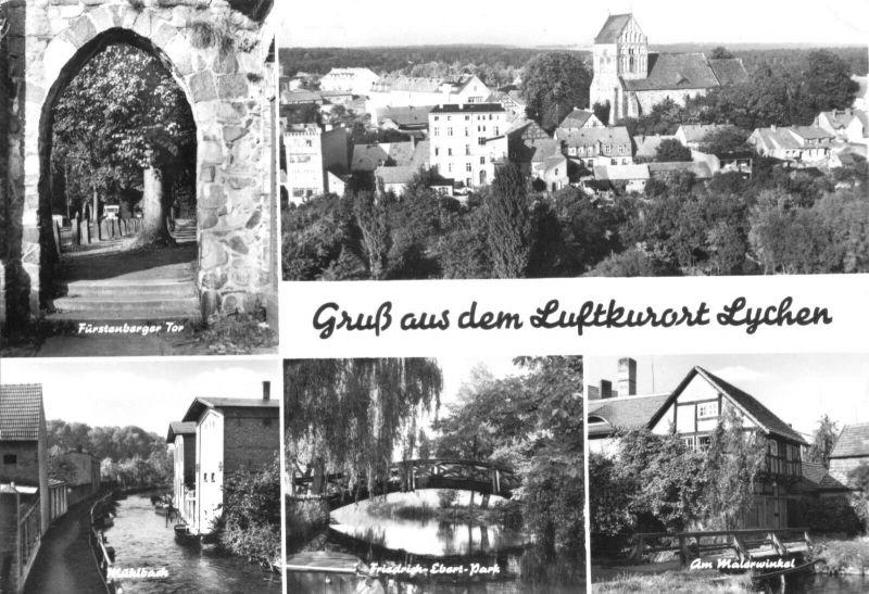 Ansichtskarte, Lychen Kr. Templin, fünf Abb., 1983