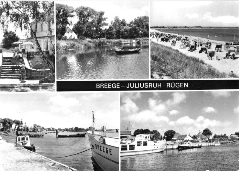 Ansichtskarte, Breege-Juliusruh, fünf Abb., 1979