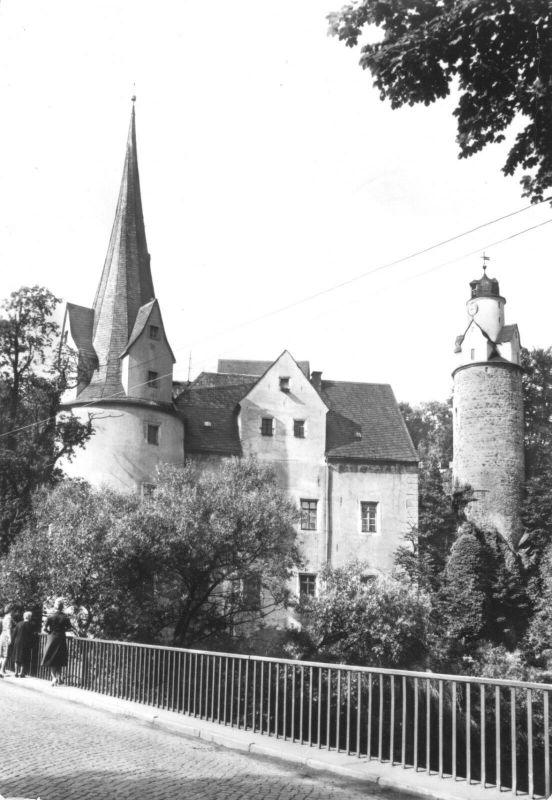 Ansichtskarte, Hartenstein Kr. Zwickau, Schloß Stein, 1980
