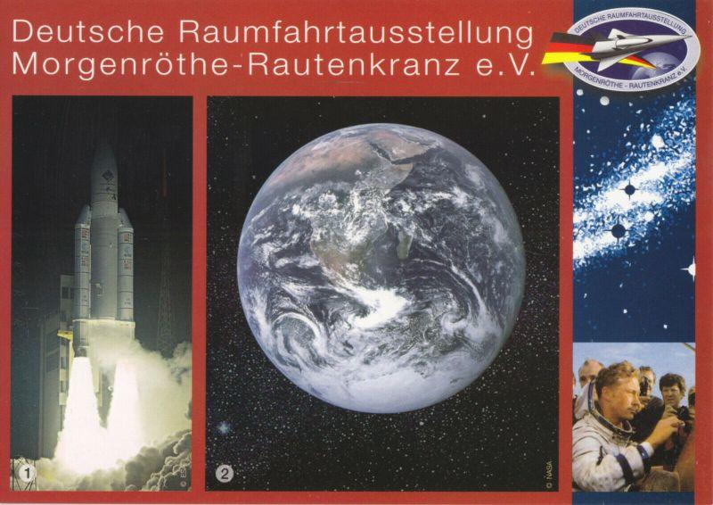 Ansichtskarte, Morgenröthe - Rautenkranz, Deutsche Raumfahrtausstellung, Version 2, um 2008