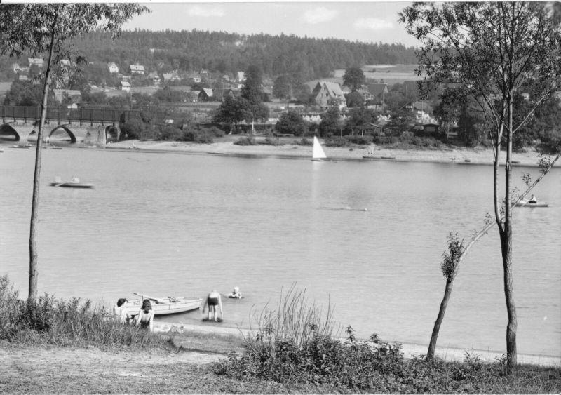 Ansichtskarte, Malter Kr. Dippoldiswalde, Talsperre Malter, 1965