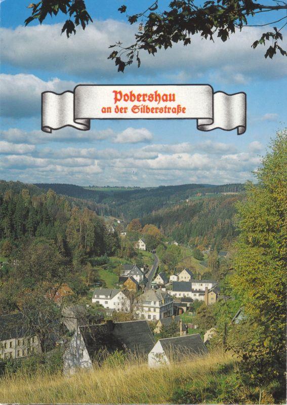 Ansichtskarte, Pobershau, Teilansicht, 1999