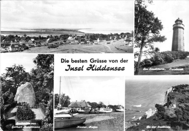 Ansichtskarte, Insel Hiddensee, fünf Abb., 1976