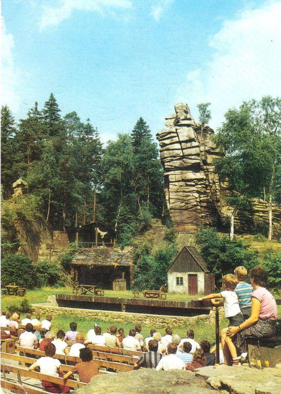 Ansichtskarte, Ehrenfriedersdorf Kr. Zschopau, Naturtheater Greifensteine, um 1988