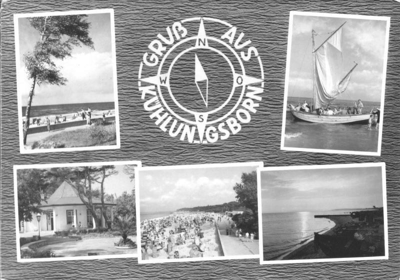 Ansichtskarte, Ostseebad Kühlungsborn, fünf Abb., gestaltet, 1965