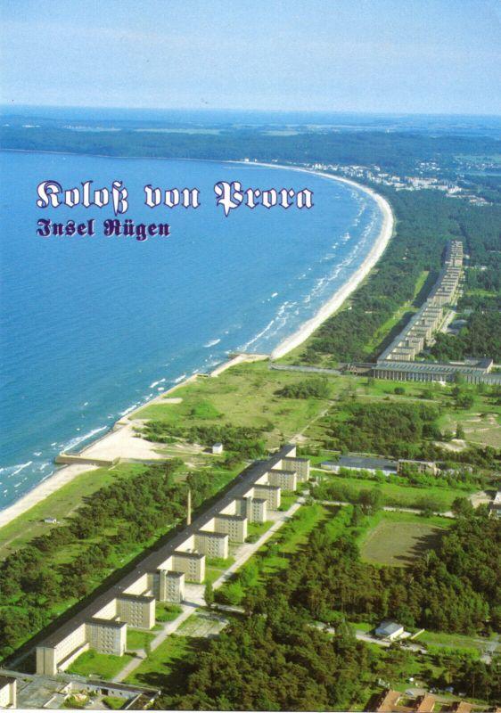 Ansichtskarte, Binz Rügen, OT Prora, Koloß von Prora, Luftbildansicht, Version 1, um 2005
