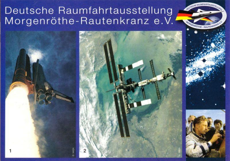 Ansichtskarte, Morgenröthe - Rautenkranz, Deutsche Raumfahrtausstellung, Version 3, um 2008