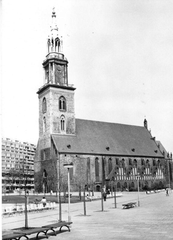 Ansichtskarte, Berlin Mitte, Marienkirche, 1971