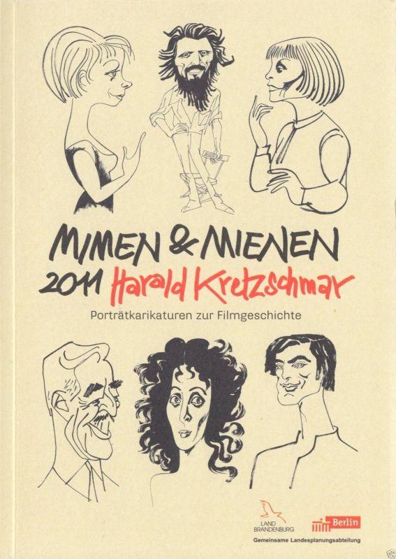Kretzschmar, Harald, Mimen und Minen 2011, Porträtkarikaturen zur Filmgeschichte