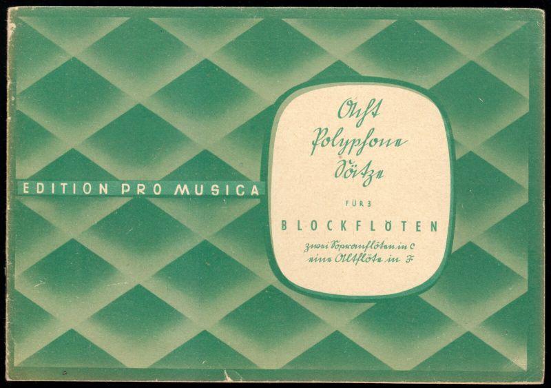 Acht polyphone Sätze für drei Blockflöten ..., 1950