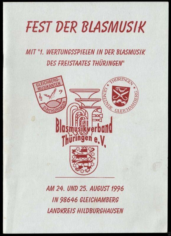 Festschrift zum Fest der Blasmusik, Geichamberg Kr. Hildburghausen, 1996 0