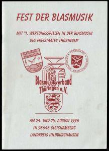 Festschrift zum Fest der Blasmusik, Geichamberg Kr. Hildburghausen, 1996