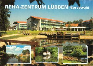 Ansichtskarte, Lübben Spreewald, REHA-Zentrum, vier Abb., gestaltet, um 1995