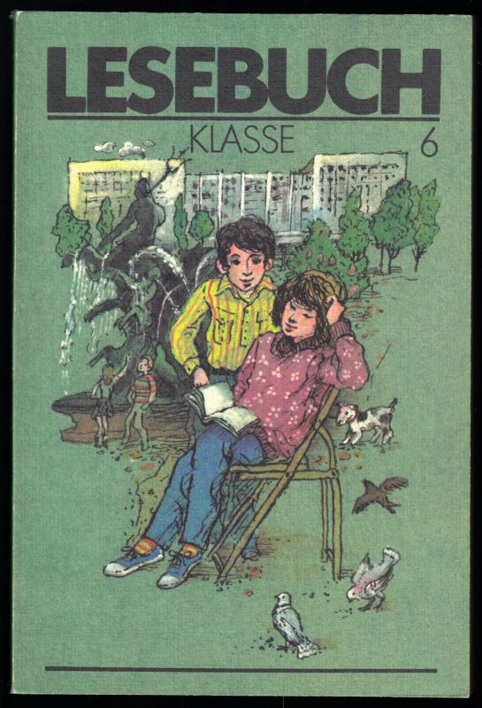 Schulbuch der DDR, Lesebuch, Klasse 6, 1990