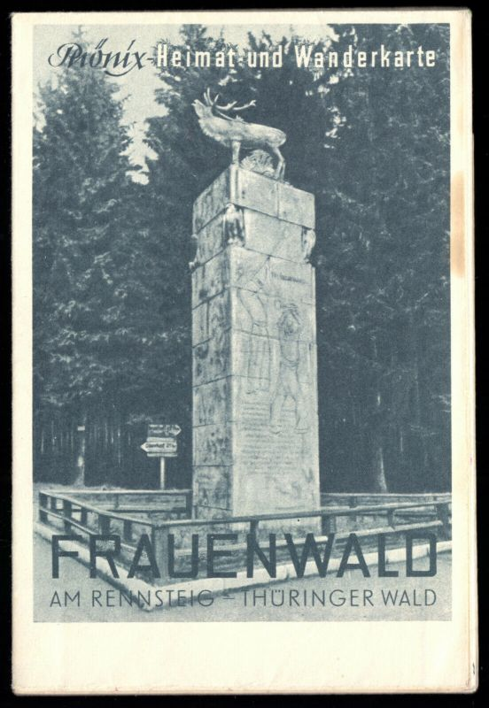 Phönix Heimat- und Wanderkarte, Frauenwald am Rennsteig, um 1960