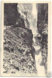 Ansichtskarte, Oberstdorf Allgäu, Partie im Breitenbachklamm, 1914