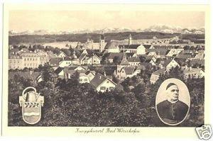 Ansichtskarte, Bad Wörishofen, Teilansicht, um 1928