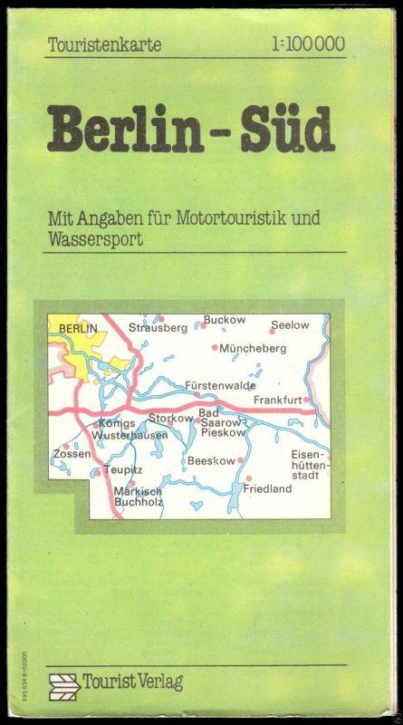 Touristenkarte, Berlin Süd, 1985