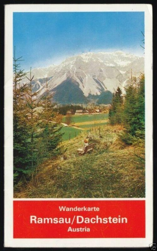 Wanderkarte, Ramsau - Dachstein, um 1980