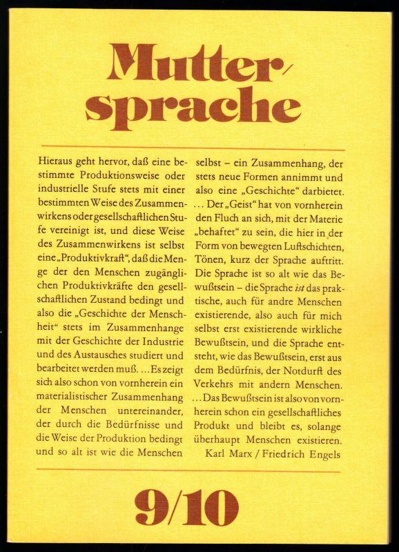 Schulbuch der DDR, Muttersprache, Klasse 9/10, 1984