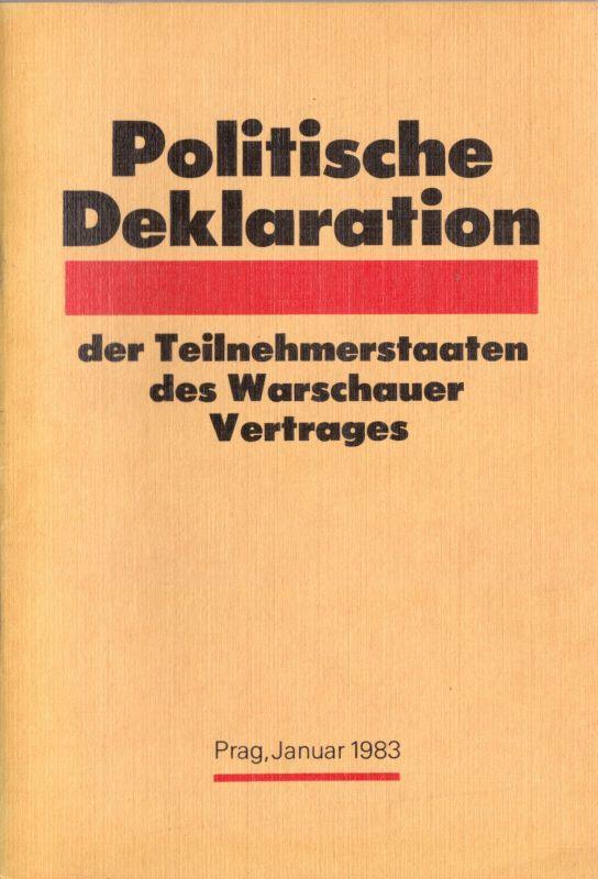 Politische Deklaration der Teilnehmerstaaten des Warschauer Vertrages, Prag 1983