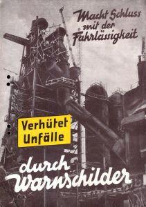 Werbebroschüre für Hinweisschilder, Fa. Arthur Weise, Löbau, 1952