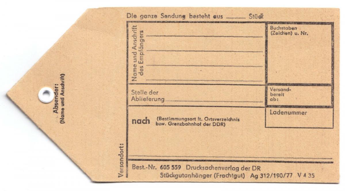 Deutsche Reichsbahn, Stückgutanhänger (Frachtgut), 1977