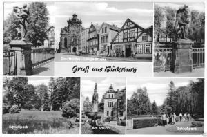 Ansichtskarte, Bückeburg, sechs Abb., 1960