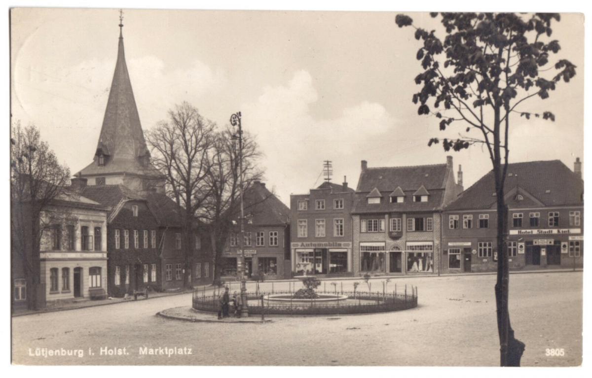 Ansichtskarte, Lütjenburg Holst., Marktplatz, 1927