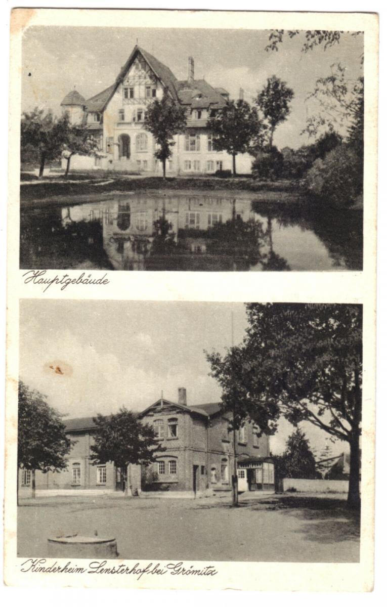 Ansichtskarte, Grömitz, Kinderheim Lensterhof bei Grömitz, zwei Abb., 1932