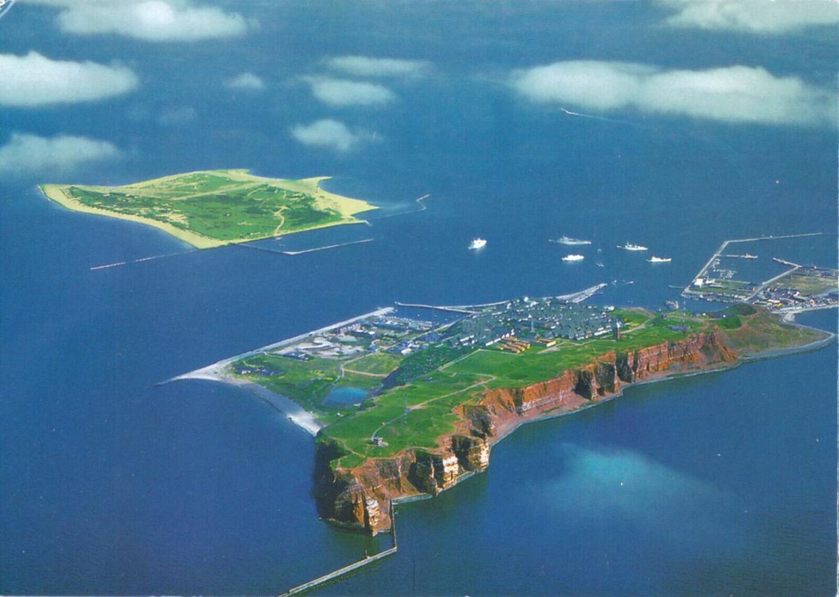 Ansichtskarte, Helgoland, Luftbildansicht, um 2010