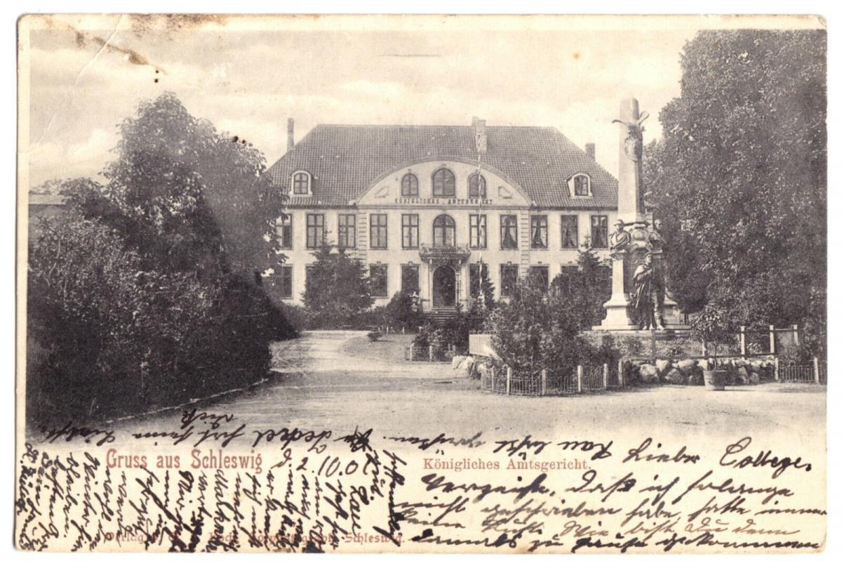 Ansichtskarte, Schleswig, Königliches Amtsgericht, 1901