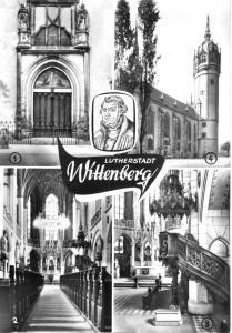 Ansichtskarte, Lutherstadt Wittenberg, Schloßkirche, vier Abb., 1979