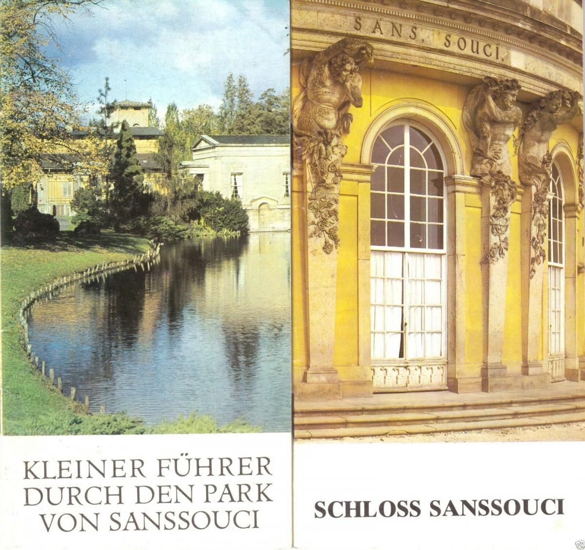 Zwei tour. Broschüren, Schloss Sanssouci und Kleiner Führer durch den Park, 1979