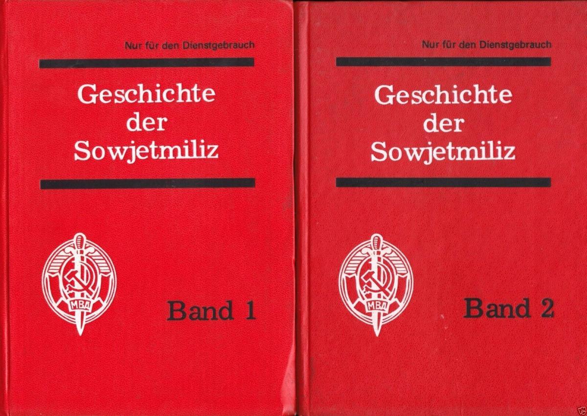 Geschichte der Sowjetmiliz, 2 Bände, 1983