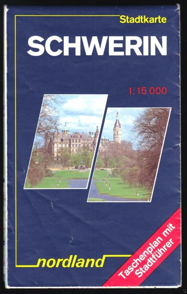 Stadtplan, Schwerin, 1991