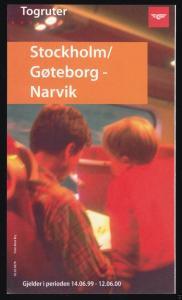 Fahrtroutenplaner, Stockholm / Gøteborg - Narvik, Schweden / Norwegen, 2000
