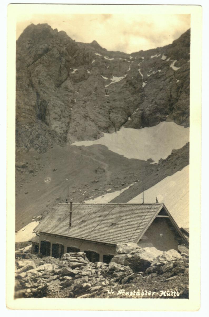 Ansichtskarte, Ehrwald Tirol, W. Neustädter Hütte, um 1935