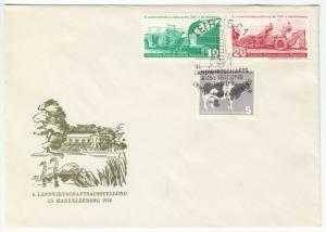 FDC, Mi.-Nr. DDR 628-30, o SSt, Leipzig C 1, 4.6.58