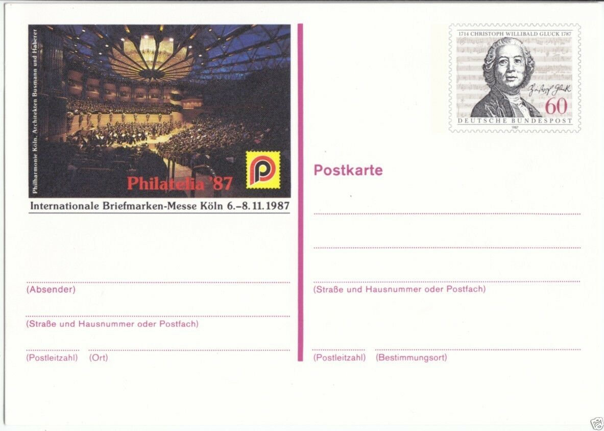 Ganzsache, Postkarte, Michel, BRD PSo 15, **