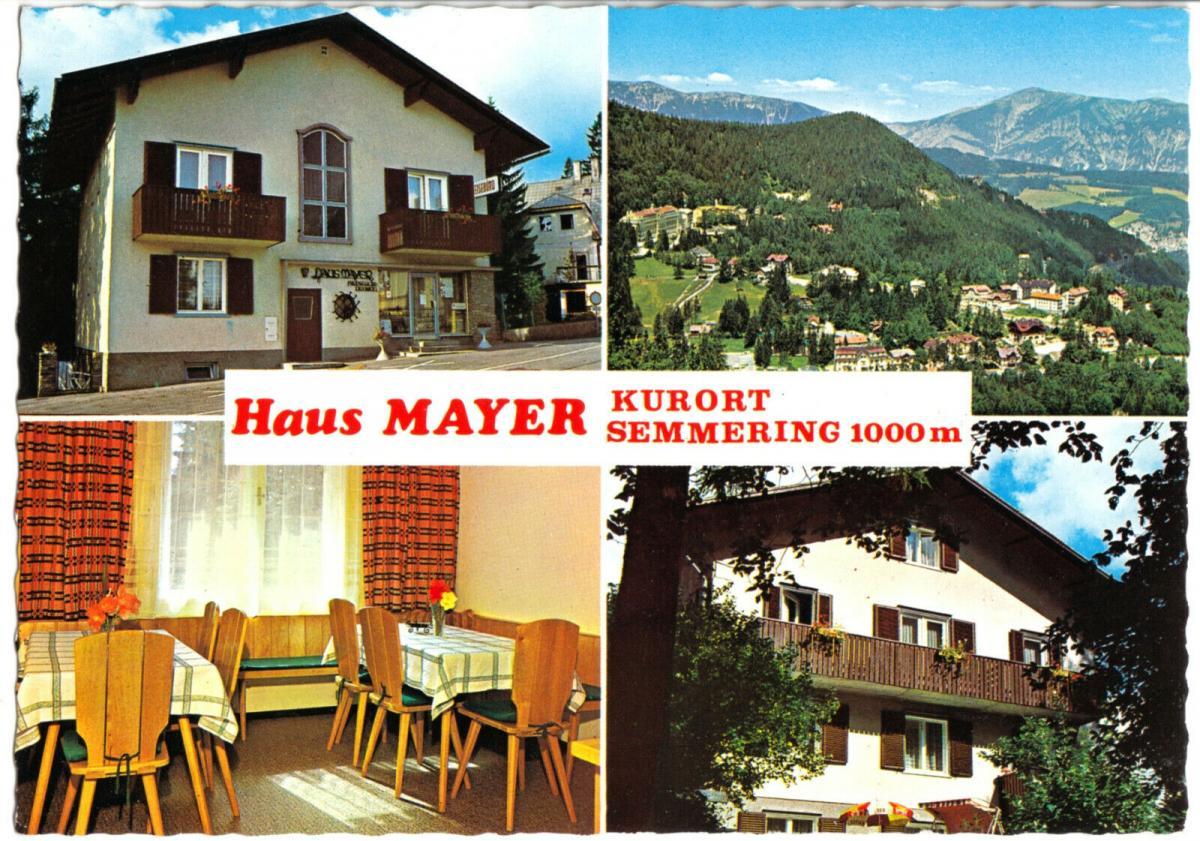 Ansichtskarte, Kurort Semmering, Haus Mayer, vier Abb., um 1970
