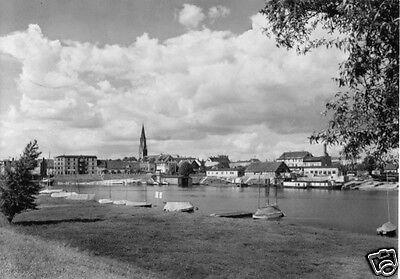 Ansichtskarte, Wittenberge, Hafen, 1968