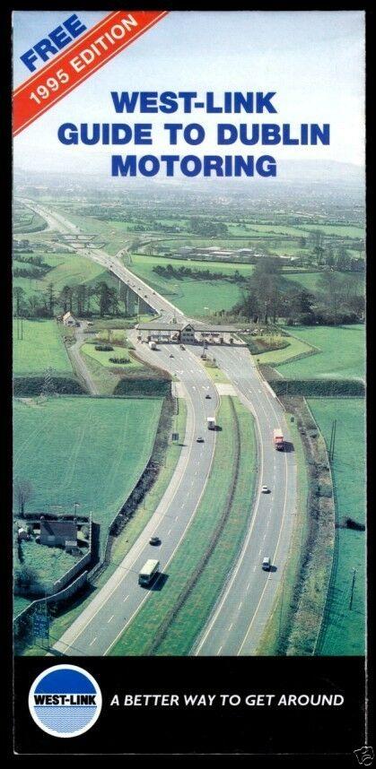 Prospekt, Dublin mit Verkehrsübersichtskarte, 1995