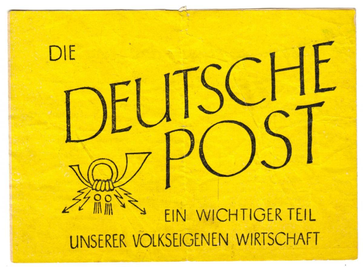 Werbefaltblatt der Deutschen Post, 1952