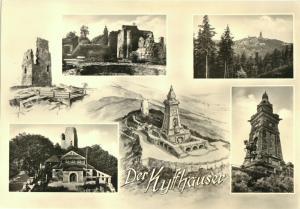 Ansichtskarte, Kyffhäuser, vier Abb., gestaltet, 1963
