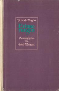 Vogeler, Heinrich; Erinnerungen, Herausgegeben von Erich Weinert, 1952