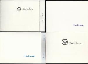 Vier Eintrittskarten, Berliner Schlosserball - verschiedene Jahrgänge